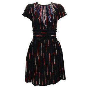 Chanel Black / Red / White Tweed Dress